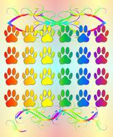 Rainbow Dog Pawns and Flourishes