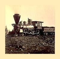 An early 1900's Photo of a mid 1800's Steam Locomo