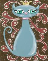 Blue Kitty Princess