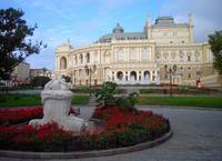 Statue View Of Odessa Opera House