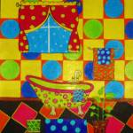 """Polka Dot Bathroom by Anthony Davais"" by Anthonydavais"