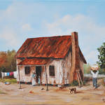"""BRINGING IN THE COTTON  SOUTHERN ART  KIP HAYES"" by kiphayes"