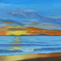 LAGUNA SUNSET Art Prints & Posters by James Rushing