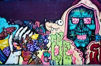 Graffiti Skull and other Hallucinogenic Characters