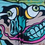 """Poke in the Eye Graffiti detail on the truck door."" by yurix"
