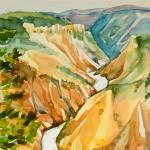 """View of Yellowstone Park"" by clovia"