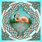 Celtic Flamingo Art by Kristen Fox