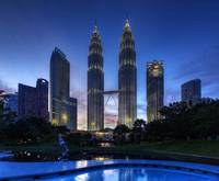 Blue Hour at Petronas Twin Towers