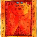 """""""Sunbathing Cat"""" by julienicholls"""