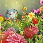 """Dahlia Garden print"" by studiobythesound"