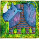 """""""Patterned Rhino"""" by julienicholls"""