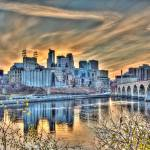 """Minneapolis Riverfront and Stone Arch Bridge"" by GregLundgrenPhotography"