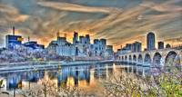 Minneapolis Riverfront and Stone Arch Bridge