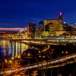 """Saint Paul Night Skyline Reflections"" by GregLundgrenPhotography"