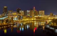 Saint Paul Riverfront at Night
