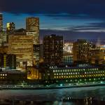 """""""Minneapolis Skyline at Night"""" by GregLundgrenPhotography"""