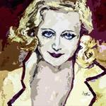 """Abstract Carol Lombard"" by GinetteCallaway"