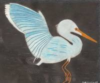 Egret On River