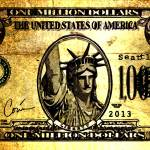 """Million Dollar Bill"" by Corinagallery"