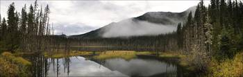 Northern Canada Fall View Lake And Mountain