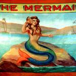"""Vintage Mermaid Carnival Poster Print 16x20"" by RebeccaKorpita"