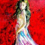 """AP-007 Temptation-The Lady in Red"" by cneartgallery"