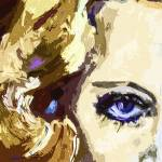 """Carol Lombard Blue Eyes Modern Art"" by GinetteCallaway"