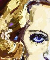 Carol Lombard Blue Eyes Modern Art