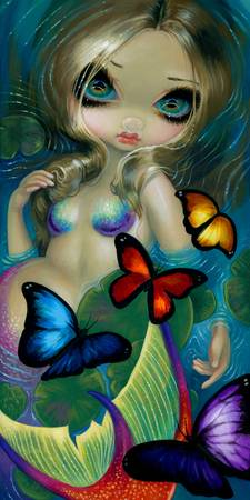 Mermaid with Butterflies
