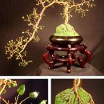 """JADE CASCADE  #1 - Wire Tree Sculpture, by Sal Vil"" by WireTrees"