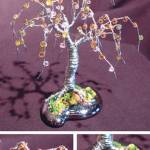 """Beaded Willow - Mini Wire Tree Sculpture"" by WireTrees"