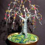 """Beaded Oak, wire tree sculpture"" by WireTrees"