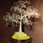 """WINTER BIRD NEST -  Wire Tree Sculpture"" by WireTrees"