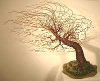 MIGHTY WIND SWEPT - Wire Tree Sculpture