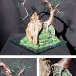 """Cascade on Glass  - Wire Tree Sculpture"" by WireTrees"