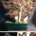 """AUTUMN BONSAI - Wire Tree Sculpture"" by WireTrees"