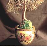 """Asian Golden Leaves - Wire Tree Sculprure"" by WireTrees"