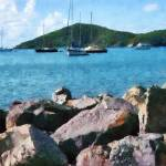 """Caribbean - Rocky Shore St. Thomas"" by susansartgallery"
