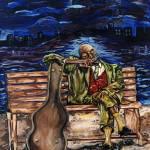 """midnight blues"" by timgilesafroartsandcrafts"