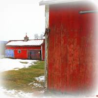 """Red Barns"" by Linda Galok"