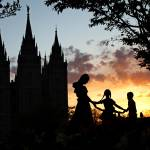 """Temple Square Sunset"" by GregStringham"