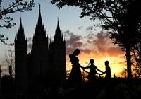 Temple Square Sunset