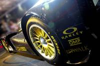 Black and Gold Lotus Race Car