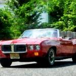 """Red Firebird Convertible"" by susansartgallery"