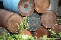 Rusty Stack Of Barrels