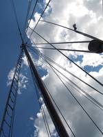 Sail Boat Ropes Reach For The Heavens,
