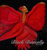 Black Butterfly with text