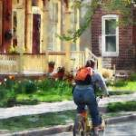 """Lovely Spring Day For A Ride"" by susansartgallery"