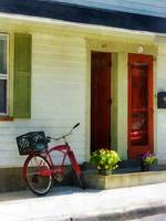 Delivery Bicycle By Two Red Doors