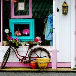 """Bicycle By Antique Shop"" by susansartgallery"